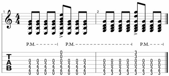 Seven different ways to play chord progressions on guitar