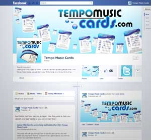 Tempo Music Cards' Facebook Page