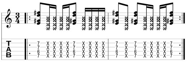 Lick 002 Simple Funky Rhythm