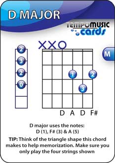 Memorize chords using flash cards
